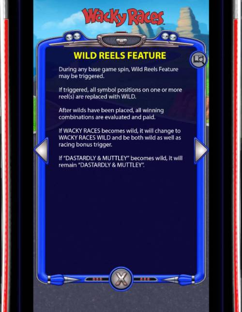Wacky Races Review Slots Wild Reels Feature