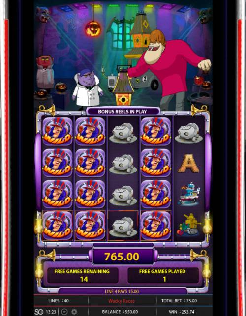 Wacky Races Review Slots Multiple winning paylines triggers a big win