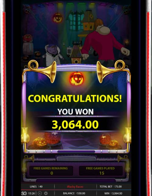 Wacky Races Review Slots Total Free Spins Payout