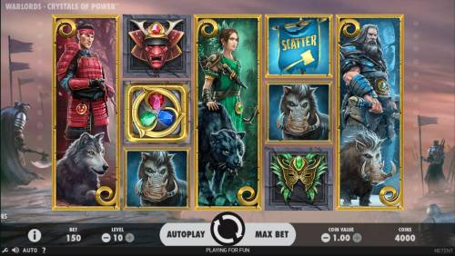 Warlords Crystals of Power Review Slots A warload themed main game board featuring five reels and 30 paylines with a $1,000,000 max payout