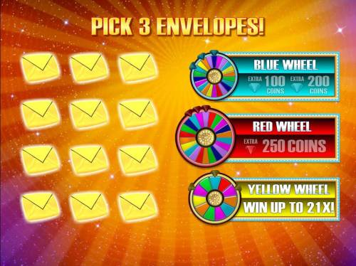 Wheel of Fortune Triple Extreme Spin Review Slots Pick 3 envelopes.