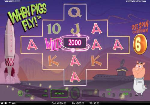 When Pigs Fly Review Slots A winning combination across the reels triggers a 2000 coin award and a re-spin.