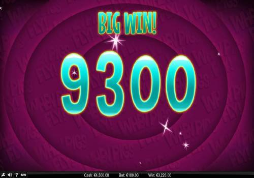 When Pigs Fly Review Slots The forth re-spin triggers a 9300 coin BIG WIN!