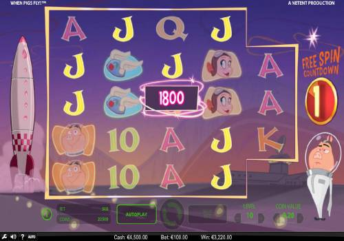 When Pigs Fly Review Slots With each successful re-spin the number of ways to win increases.