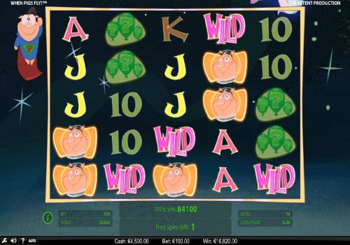 When Pigs Fly Review Slots Multiple winning combinations triggers a super win during the free games feature.