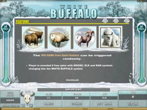 White Buffalo Review Slots the big game feature free spin feature can be triggered randomly