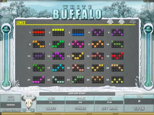 White Buffalo Review Slots the game has 25 payline configurations