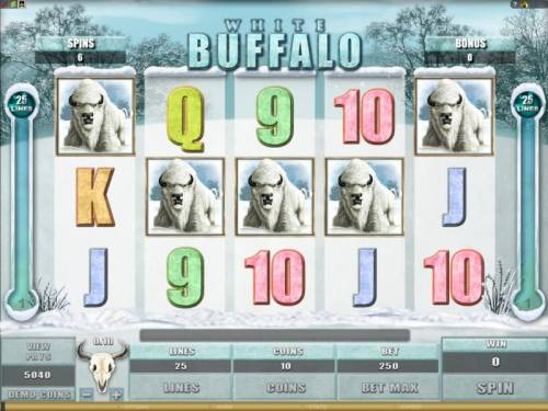 White Buffalo Review Slots all of the big game symbols are changed into white buffalo symbols