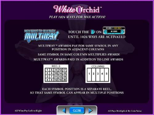 White Orchid Review Slots play 1024 ways for max action