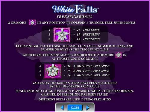 White Orchid Review Slots free spins bonus rules and paytable