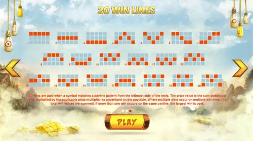 Wild Fight Review Slots Payline Diagrams 1-20. All wins are paid when a symbol matches a payline pattern from the leftmost side of the reels.