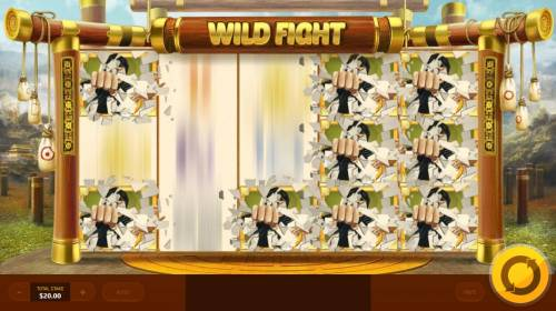 Wild Fight Review Slots Random Wilds triggered.