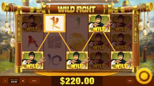 Wild Fight Review Slots A 220.00 big win triggered by random wilds
