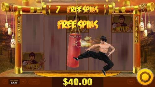 Wild Fight Review Slots 7 Free Spins awarded.