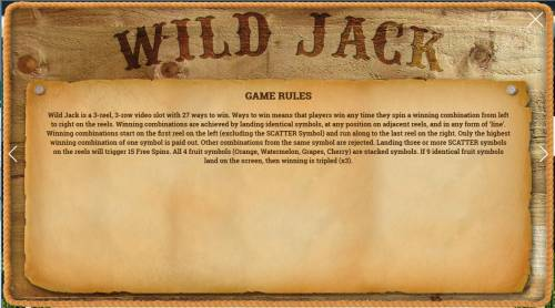 Wild Jack Review Slots General Game Rules