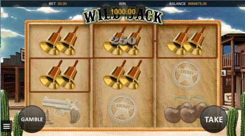 Wild Jack Review Slots Multiple winning paylines triggers a 250.00 big win!