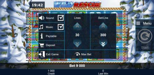 Wild Rescue Review Slots Click on the side menu button to adjust the Coins per Line or Coin Size.