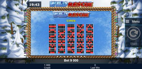 Wild Rescue Review Slots Payline Diagrams 1-30