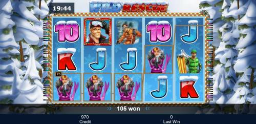 Wild Rescue Review Slots A winning Four of a Kind awards a 75 coin line pay.
