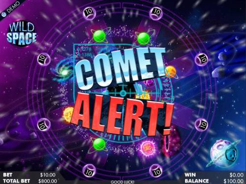 Wild Space Review Slots Comet Alert activated.