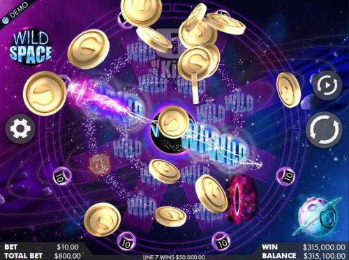 Wild Space Review Slots Multiple winning paylines triggers a 315,000 ultra extreme big win!