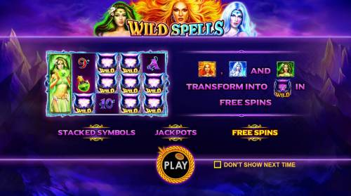 Wild Spells Review Slots Game features include: Stacked Symbols, Jackpots and Free Spins