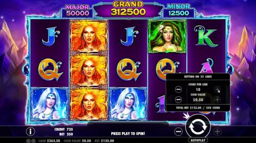 Wild Spells Review Slots Click on the plus or minus buttons next to the play button to adjust the coin value and/or bet per line level.