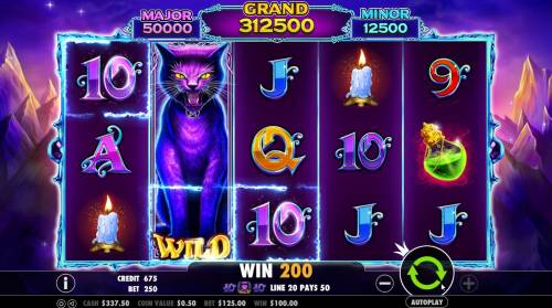 Wild Spells Review Slots Expanded wild symbol