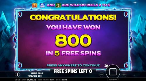 Wild Spells Review Slots Total free spins payout 800 coins