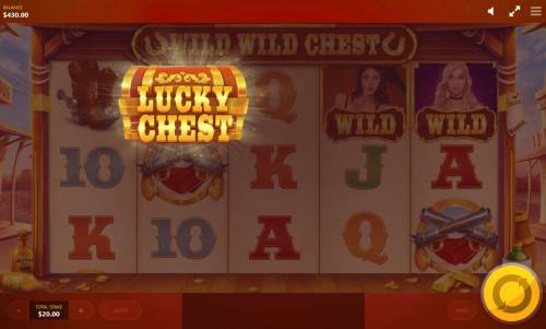 Wild Wild Chest Review Slots Lucky Chest feature triggered
