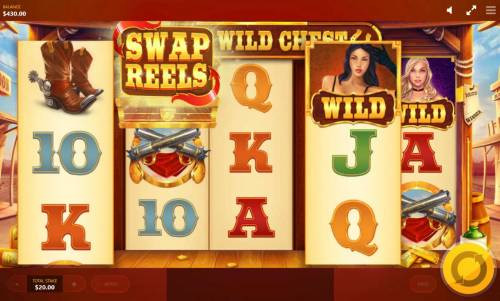 Wild Wild Chest Review Slots Swap Reels feature activated