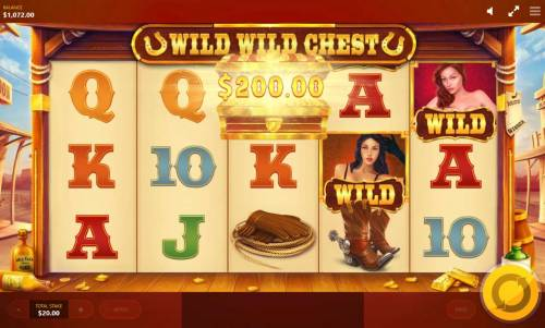 Wild Wild Chest Review Slots Lucky Chest awards a 200.00 instant win.