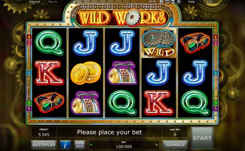 Wild Works Review Slots Main Game Board
