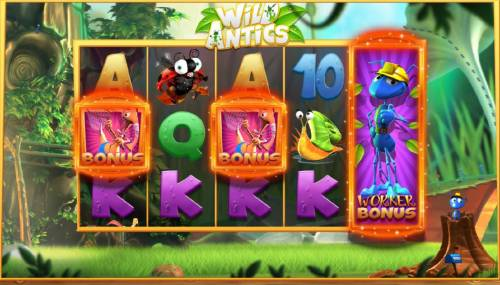 Wild Antics Review Slots Worker Bonus feature triggered