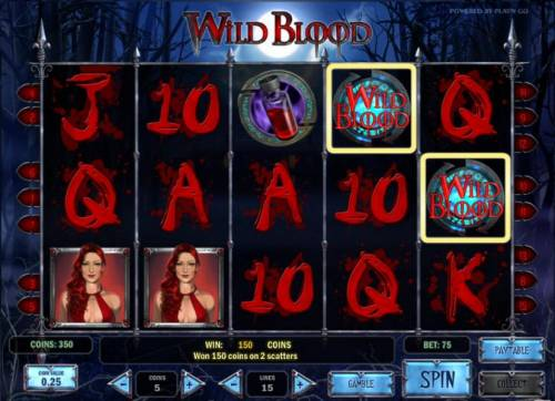 Wild Blood Review Slots two scatter symbols triggers a 2x your bet payout