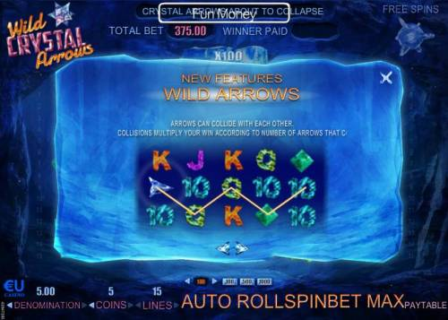 Wild Crystal Arrows Review Slots Arrows can collide with each other. Collisions multiply your win according to number of arrows that collide.