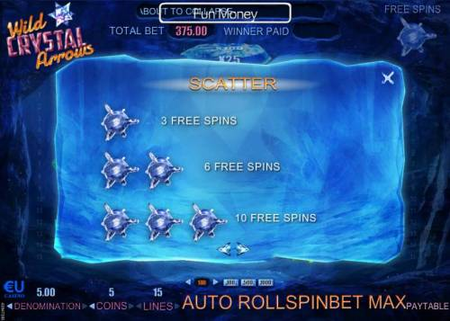 Wild Crystal Arrows Review Slots Scatter Paytable - Free Spins