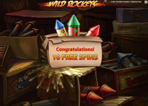 Wild Rockets Review Slots 10 free spins awarded