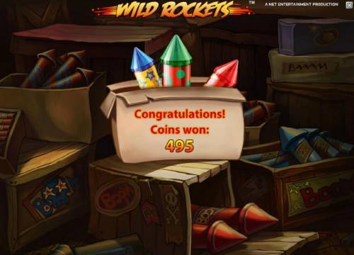 Wild Rockets Review Slots the free spins feature pays out a total of 495 coins