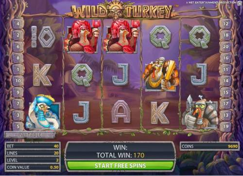 Wild Turkey Review Slots free spins game board