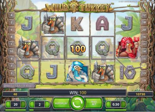 Wild Turkey Review Slots 1200 coins awarded during the free spins bonus feature