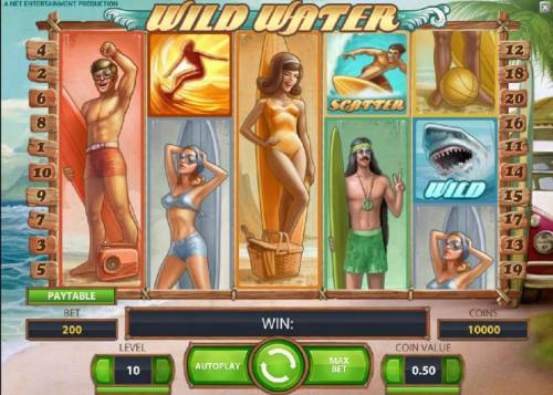 Wild Water Review Slots main game board