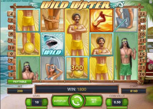 Wild Water Review Slots 1800 coin big win