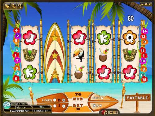 Wild Waves Review Slots expanded wild triggers 76 coin jackpot