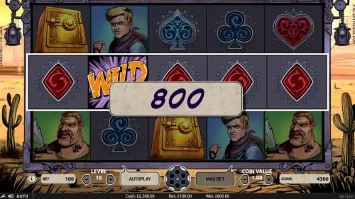 Wild Wild West The Great Train Heist Review Slots A five of a kind triggers an 800 coin payout.