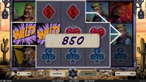 Wild Wild West The Great Train Heist Review Slots Multiple winning paylines triggers a 850 coin big win!