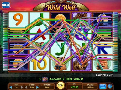 Wild  Wolf Review Slots here is an example of a multiline 470 coin jackpot