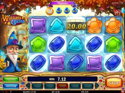 Wizard of Gems Review Slots Five of a kind.