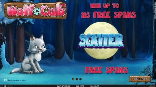 Wolf Cub Review Slots Win up to 115 Free Spins!