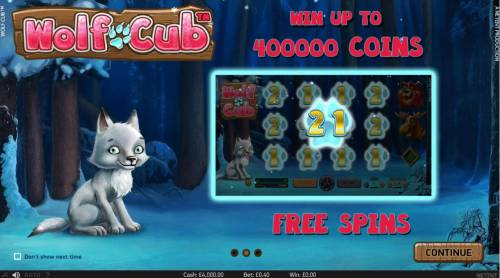 Wolf Cub Review Slots Win up to 400,000 coins!